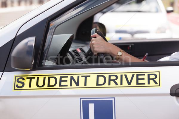 Sürücü eğitim öğrenci sürücü araba Stok fotoğraf © wellphoto