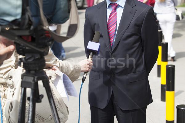 TV interview Stock photo © wellphoto