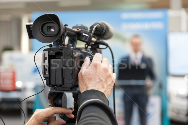 News conference. Spokesman. Stock photo © wellphoto