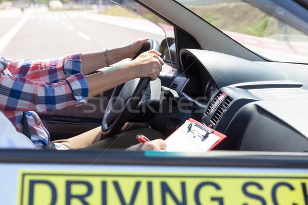 Araba sürücü okul eğitim öğrenci Stok fotoğraf © wellphoto