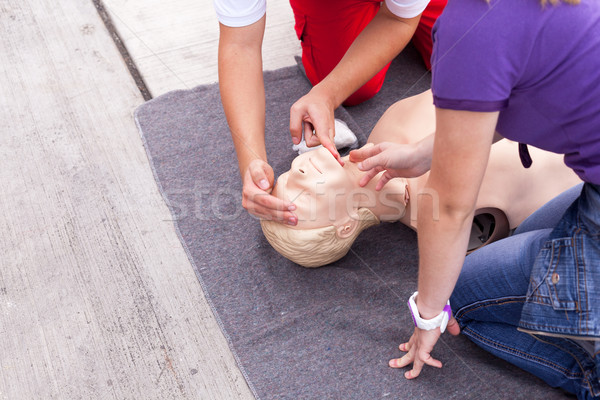 First aid. CPR. Stock photo © wellphoto
