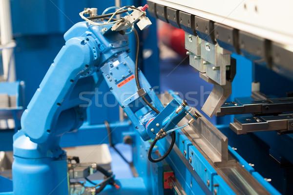 Robótico braço máquina transferir lugar robô Foto stock © wellphoto