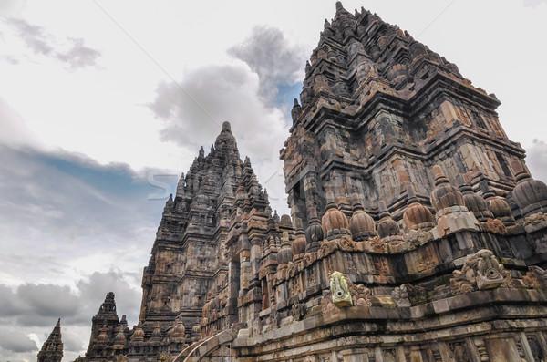 Hindu temple Prombanan complex in Yogjakarta in Java Stock photo © weltreisendertj