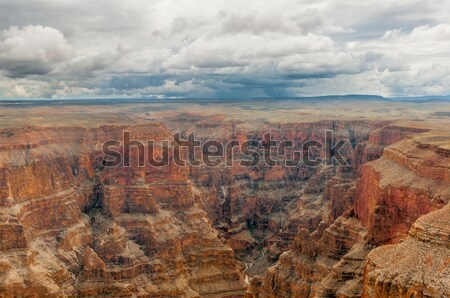 Panorámakép kilátás Grand Canyon egy legnagyszerűbb tájképek Stock fotó © weltreisendertj