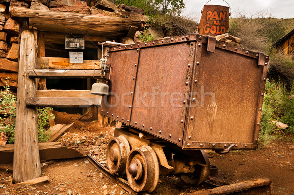 Jerome Arizona Ghost Town mine car Stock photo © weltreisendertj