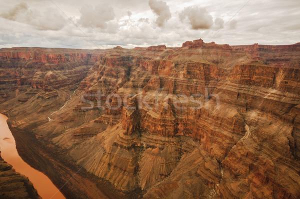 Colorado canón rojo color nublado día Foto stock © weltreisendertj