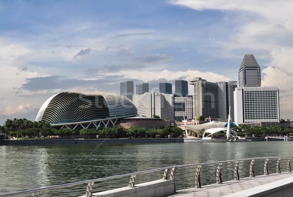 Singapore city skyline finacial district Stock photo © weltreisendertj
