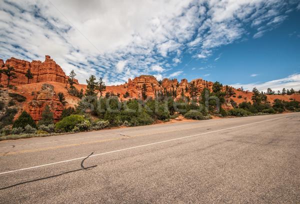 дороги каньон амфитеатр Запад США Юта Сток-фото © weltreisendertj