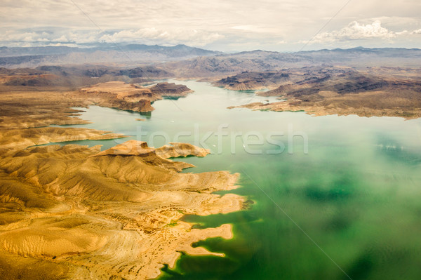 Lago Grand Canyon verde vermelho cores nuvens Foto stock © weltreisendertj