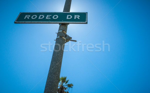 Rodeo Drive Strret sign in Beverly Hills Stock photo © weltreisendertj