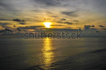 Gün batımı tapınak güney bali Endonezya gökyüzü Stok fotoğraf © weltreisendertj