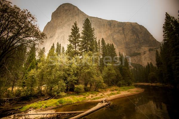 Yosemite ognia pyłu powietrza sierpień 2013 Zdjęcia stock © weltreisendertj