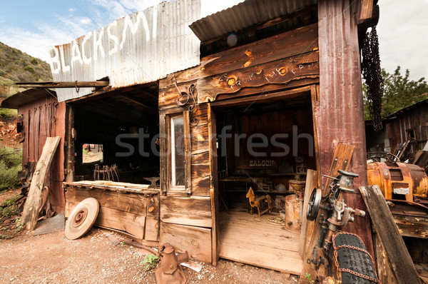 Jerome Arizona Ghost Town saloon Stock photo © weltreisendertj