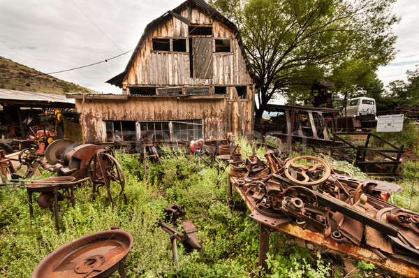 Arizona ocidental casa cidade fantasma lixo pintar Foto stock © weltreisendertj