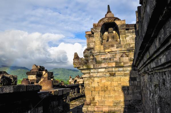 little rainbow Buddist temple Borobudur complex in Yogjakarta in Stock photo © weltreisendertj