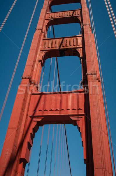 Pilastro Golden Gate Bridge cielo blu San Francisco California USA Foto d'archivio © weltreisendertj