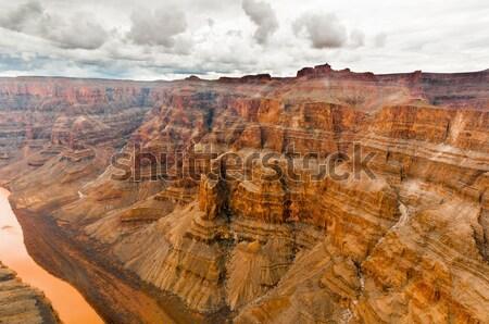 Grand Canyon muro nubi piovosa giorno 2013 Foto d'archivio © weltreisendertj