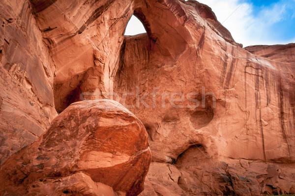 beautiful rock formation in Monument Valley Stock photo © weltreisendertj