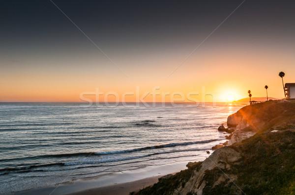 Stock photo: Pismo Beach sunset on Highway 1