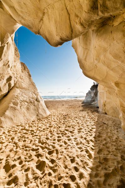 Playa carretera caliza cielo agua coche Foto stock © weltreisendertj
