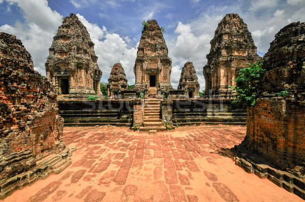 Ancient buddhist khmer temple in Angkor Wat complex, Siem Reap C Stock photo © weltreisendertj
