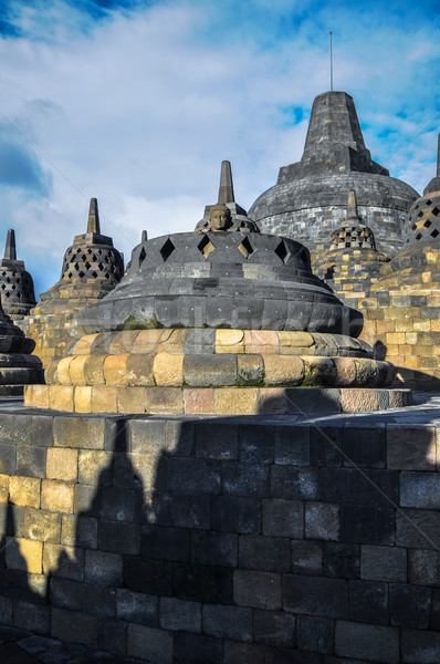 Stupa  Borobudur in Yogjakarta in Java Stock photo © weltreisendertj