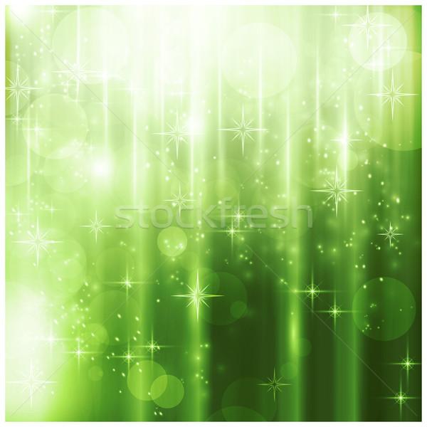 Zdjęcia stock: Elegancki · zielone · światła · efekty · świetlne