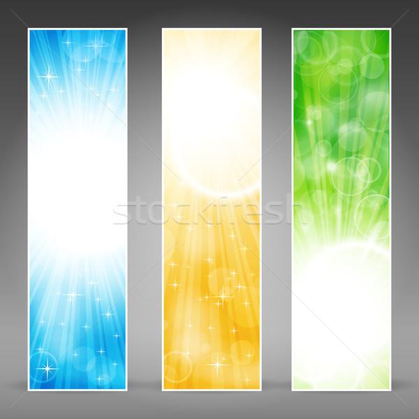 Vertical banner set with light bursts Stock photo © wenani