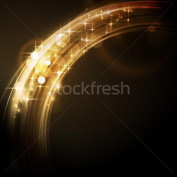 Abstract licht grens sterren cirkel Stockfoto © wenani