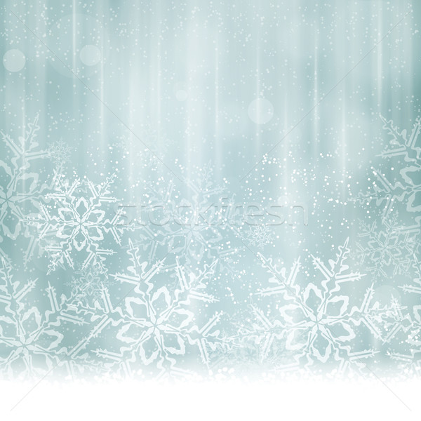 Abstract silver blue Christmas, winter background Stock photo © wenani