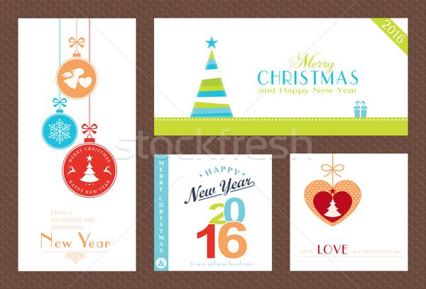 Noël nouvelle ans horizons modernes Photo stock © wenani