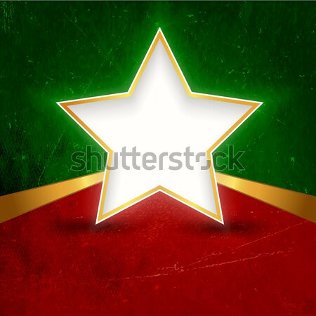 Golden Christmas star on green background Stock photo © wenani