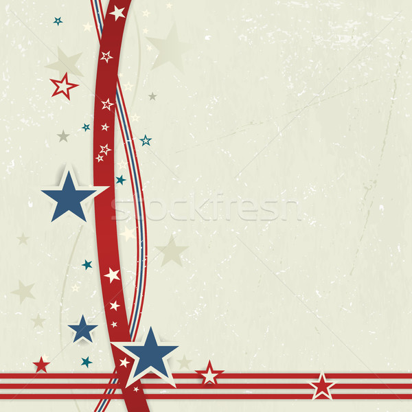 USA patriotic background in red, blue and off white. Stock photo © wenani