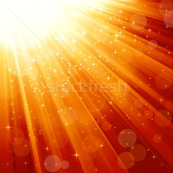 Magie sterren licht feestelijk goud Stockfoto © wenani
