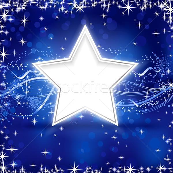 Bleu argent Noël star hiver étoiles Photo stock © wenani