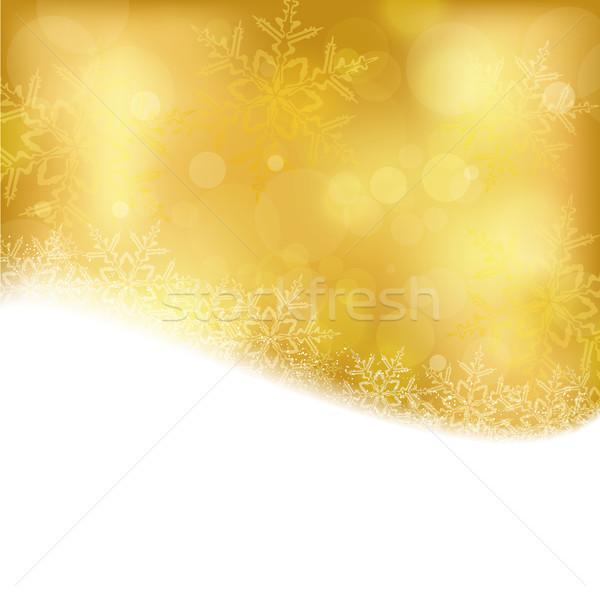 Dorado Navidad luces brillante efectos de luz Foto stock © wenani