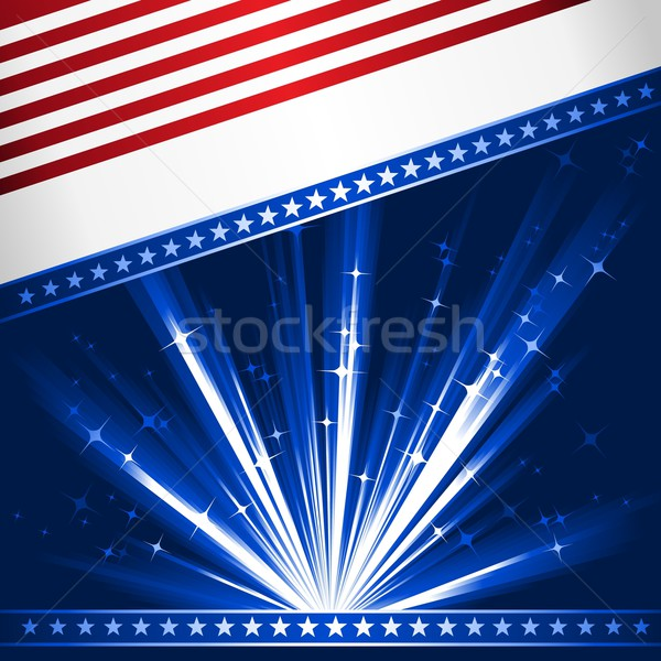 Stylised USA flag Stock photo © wenani