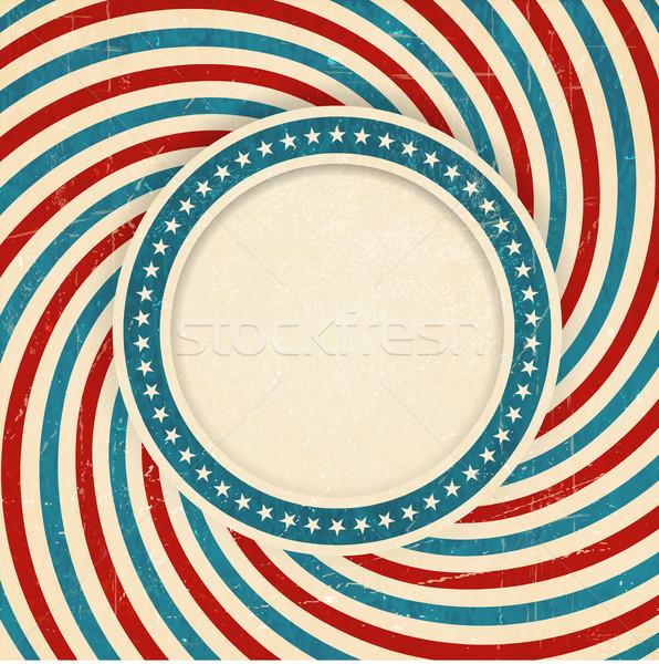 EUA bandeira grunge vintage estilo Foto stock © wenani