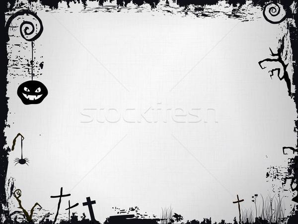 Grunge cadre halloween effrayant Photo stock © wenani