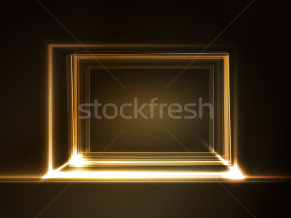 Glowing rectangular frame with light effects Stock photo © wenani