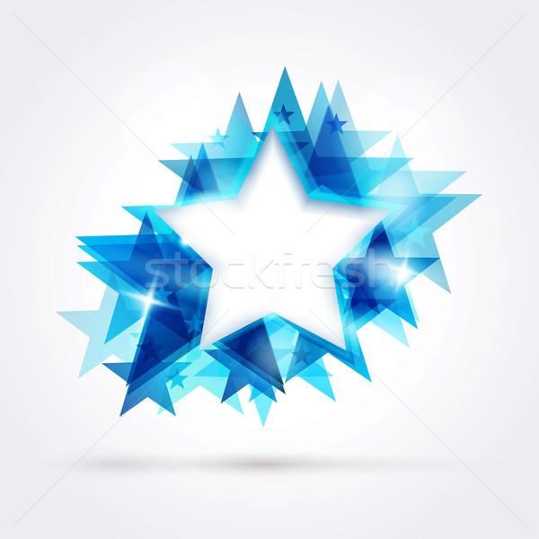 Résumé bleu star espace texte Photo stock © wenani