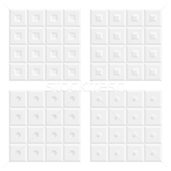 Resumen blanco gris sin costura vector patrón Foto stock © wenani