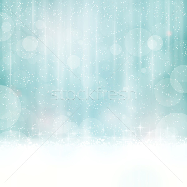 Abstract blue background with blurry lights Stock photo © wenani