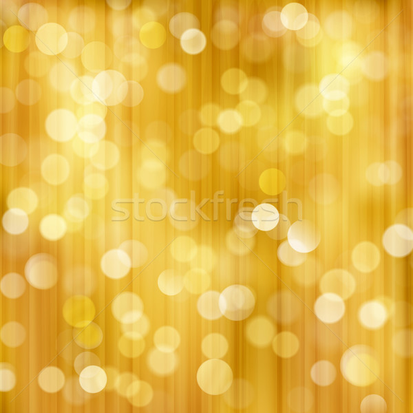 Golden sparkling Christmas, holiday blurry lights, bokeh backgro Stock photo © wenani