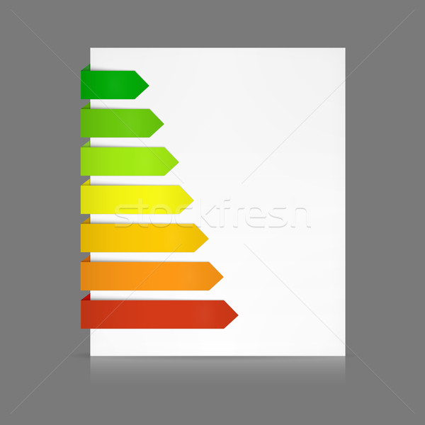 Set of colorful paper tags as for energy consumption levels Stock photo © wenani