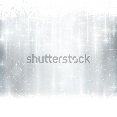 Srebrny zimą christmas efekty świetlne streszczenie biały Zdjęcia stock © wenani