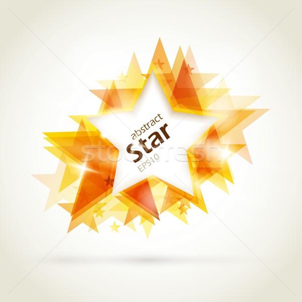 Abstrato dourado estrela formas vermelho espaço Foto stock © wenani