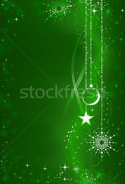 аннотация зеленый Рождества украшения вертикальный темно Сток-фото © wenani