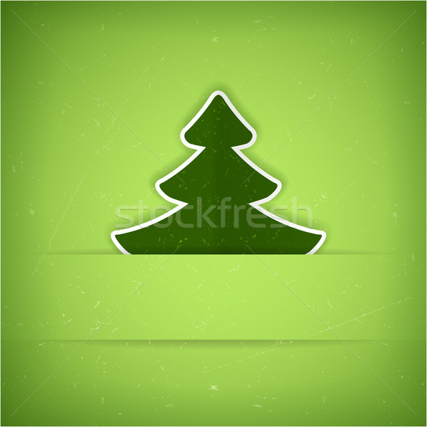 Verde árvore de natal cartão vetor textura Foto stock © wenani