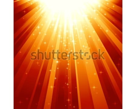 Magic stars descending on beams of light Stock photo © wenani